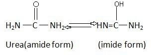 Urea Tautomeric Structure Proposed.