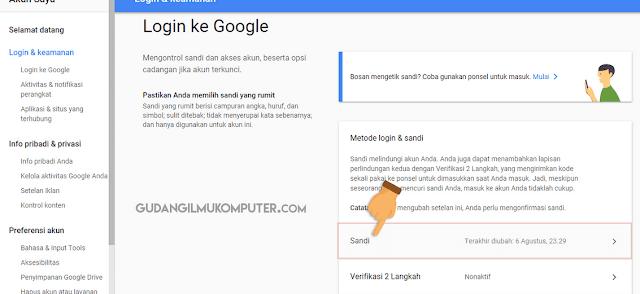 Password atau sandi terbagi dalam kombinasi pada abjad Cara Ganti Password Gmail Yang Lupa