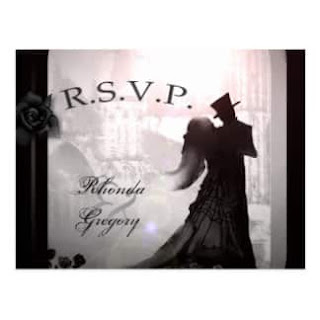 Gothic Romantic Silhouette RSVP PostCard
