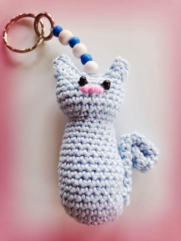 Wollzauberei Schlüsselanhänger Katzen
