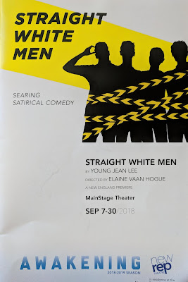 Playbill of Straight White Men - New Rep Theater September 2018