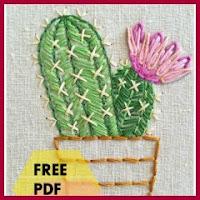 Cactus bordado