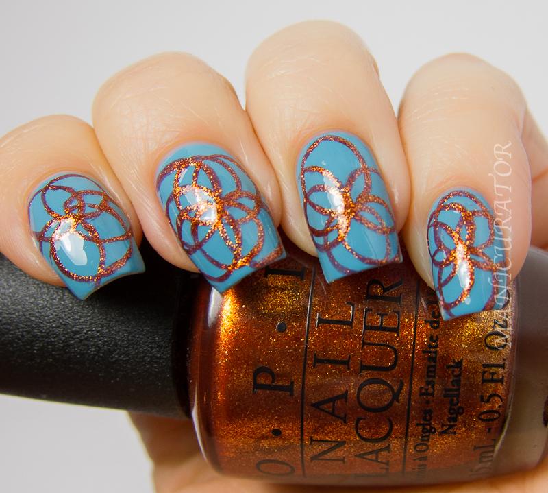 Euro Nail: Free Hand Circle Nail Art With OPI Euro Centrale