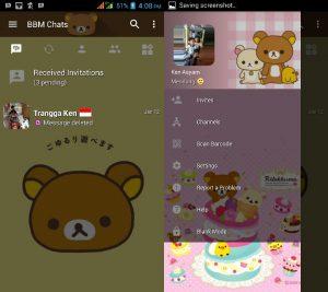 BBM MOD Tema Rilakkamu v3.3.0.16 APK Versi Terbaru
