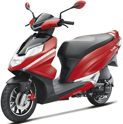 Hero Dare 125cc Scooter Red & black color Hd picture