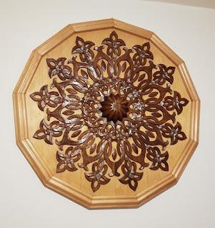 Rumi desenli tavan göbeği çalışmam