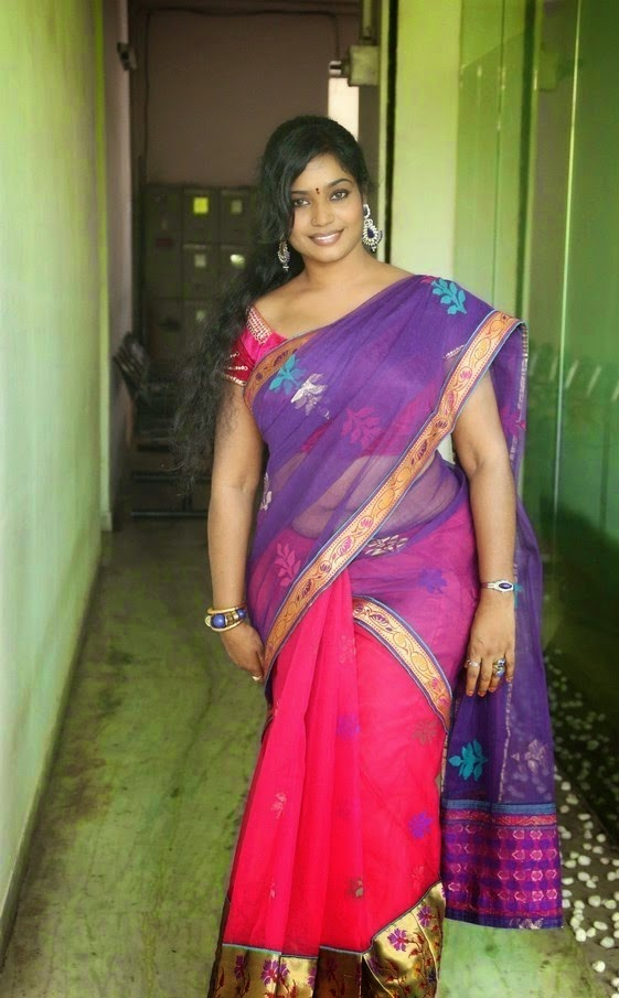 Jayavani Aunty Hot Photos In Saree - Spicy Masala Gallery-8784