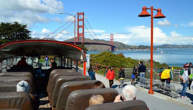 Sobre os ônibus turísticos em San Francisco