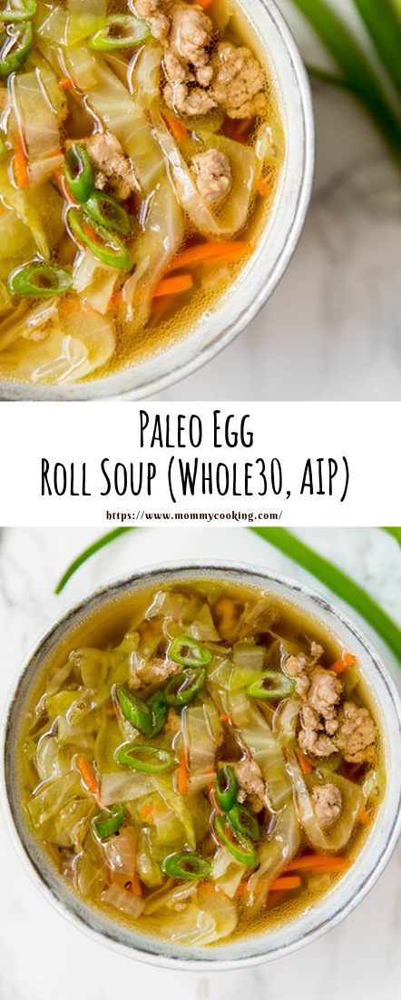 Paleo Egg Roll Soup (Whole30, AIP) #vegetarianrecipe #vegies
