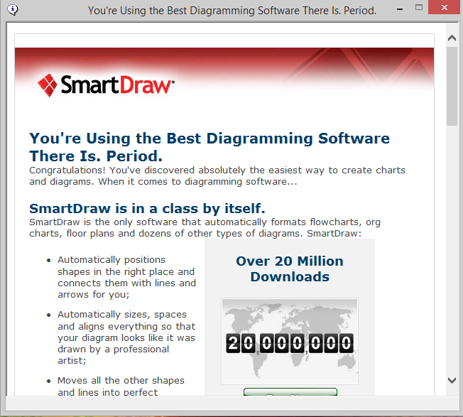 this behavior was encountered with the 1312016 64 bit version of smartdraw for windows using the installer package smartdraw_xg_13iggr_setupexe from the - Smartdraw For Windows