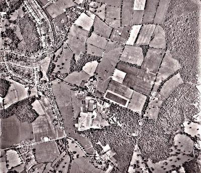Image 11: Photograph taken June 15, 1962 Aerial photograph of North Mymms from the Peter Miller Collection