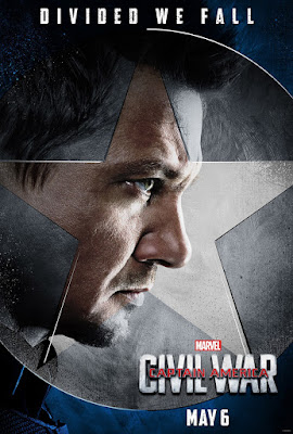 "Captain America: Civil War ""Team Cap"" Character Movie Poster Set - Jeremy Renner as Hawkeye"