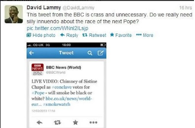 Lammy's gaffe
