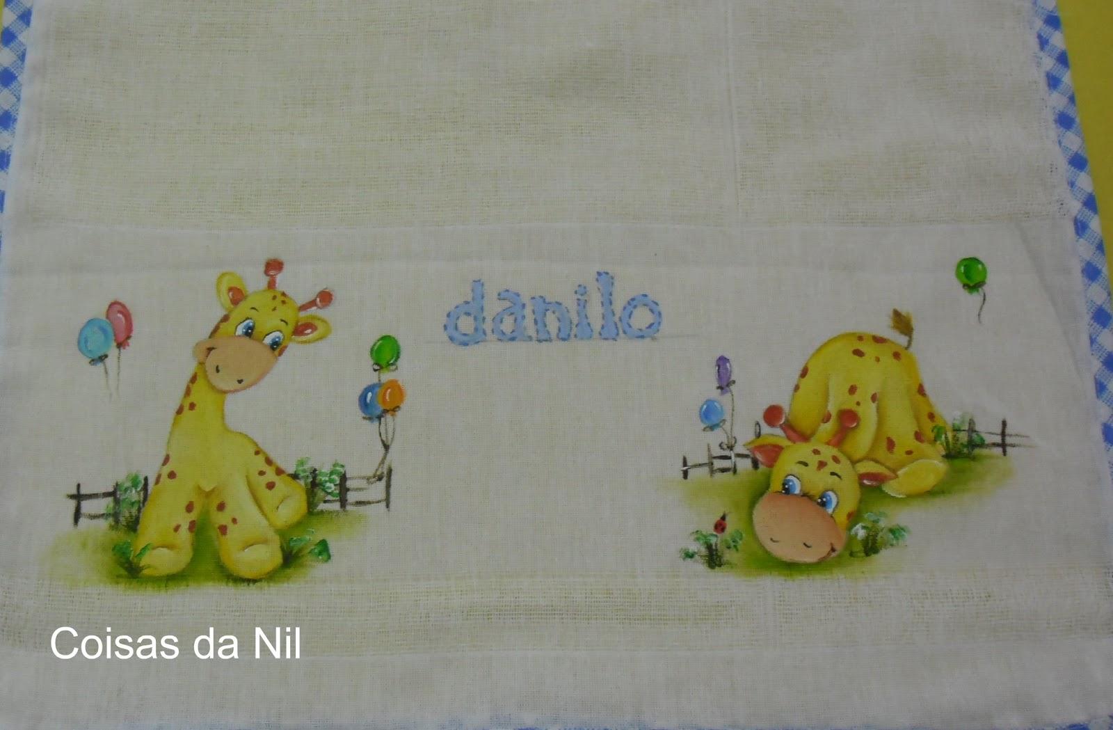 Populares Coisas da Nil - Pintura em tecido: Girafas. GS94