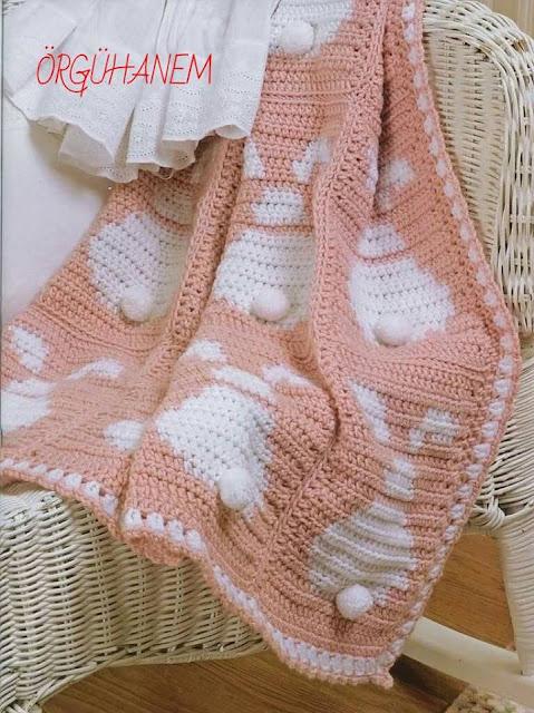 Manta de Conejo a Crochet