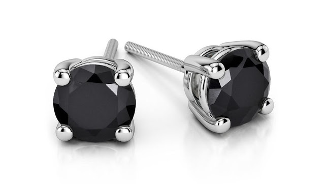 Black Diamond Stud Earrings