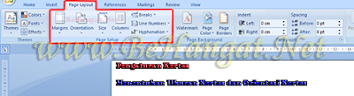 Pengaturan Kertas MS. Word - BeHangat.Net