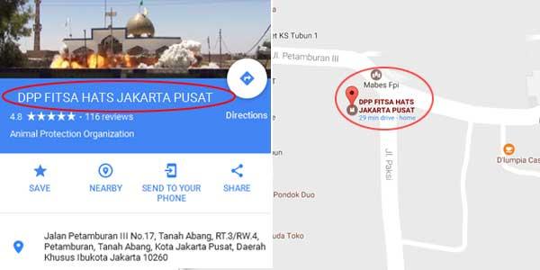 """Ketik """"DPP FPI Pusat"""" di Google, yang Muncul """"DPP Fitsa Hats Pusat"""""""