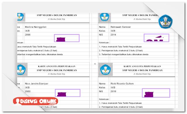 Aplikasi Cetak Kartu Anggota Perpustakaan Otomatis Terbaru