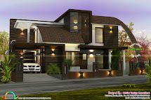 2550 Sq-ft Contemporary Mix Roof House - Kerala Home