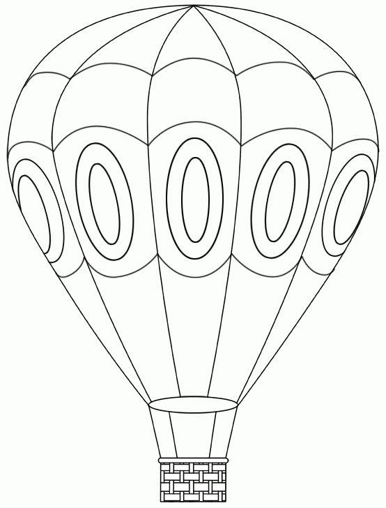 Tranh tô màu khinh khí cầu đẹp
