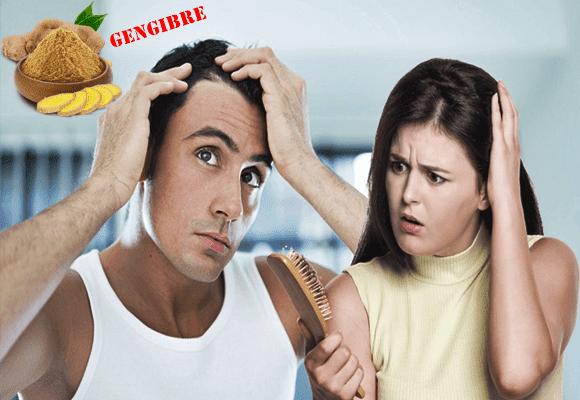 Benefícios-gengibre-queda-cabelos