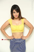 Cute Telugu Actress Shunaya Solanki High Definition Spicy Pos in Yellow Top and Skirt  0063.JPG