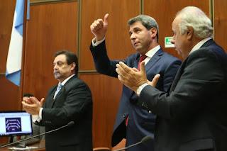 En la Legislatura. El gobernador Sergio Uñac en la apertura de sesiones de 2017 de la Cámara de Diputados. Este año irá el martes 3 de abril.