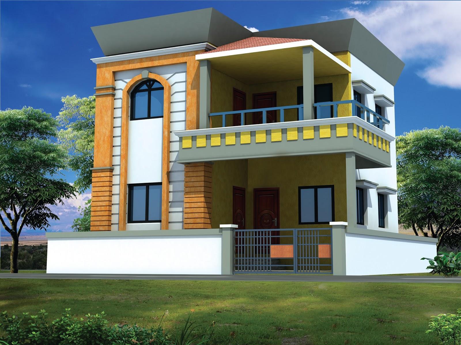 Modern house modern house designs new architecture unique india bunglaw building facade view 3d exterior home concept design