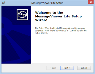 MessageViewer Lite .eml viewer installer screen 1