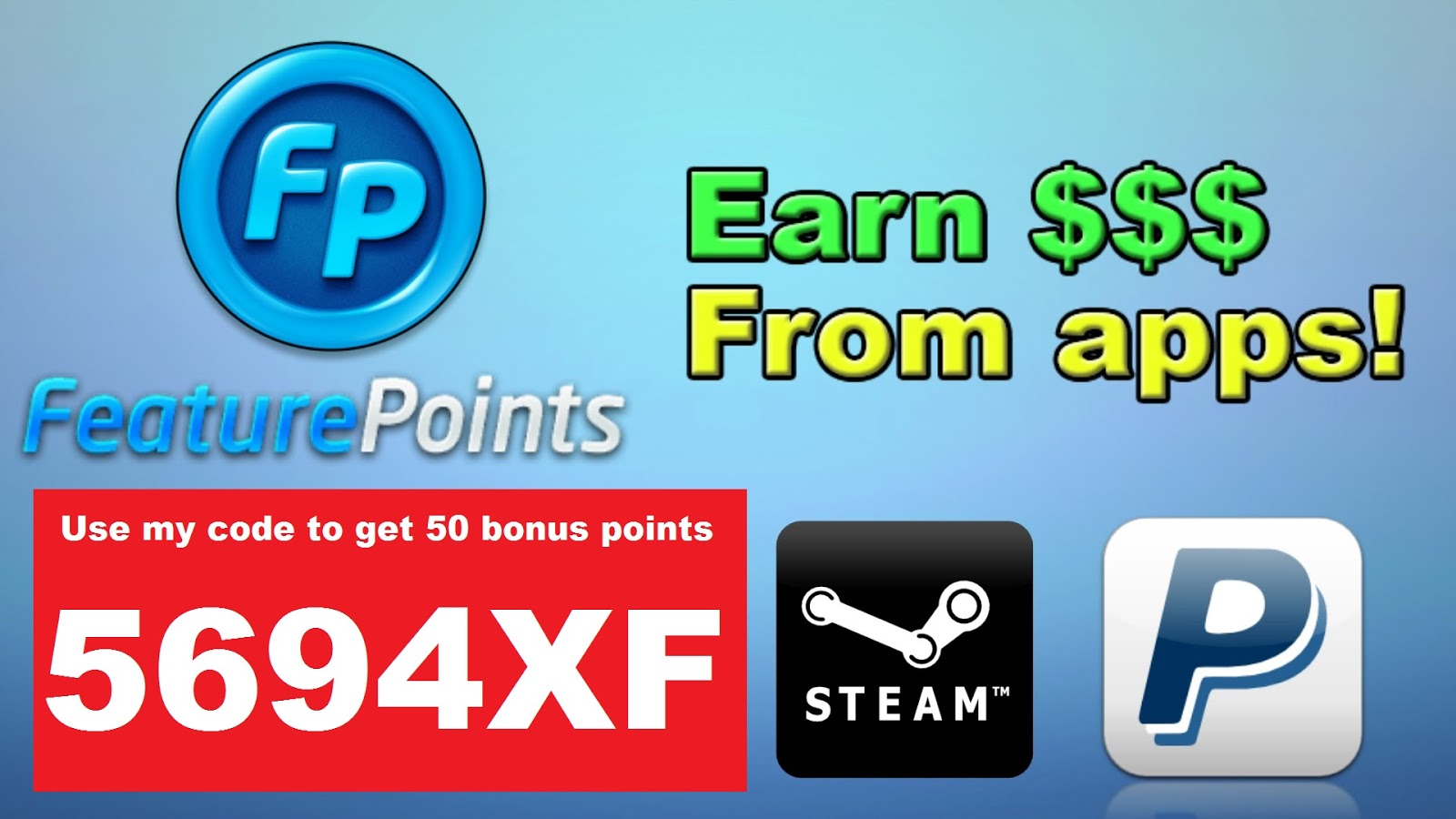 Earn steam gift cards with FeaturePoints | code4you.tk