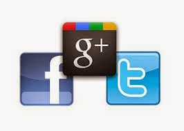 facebook google twitter