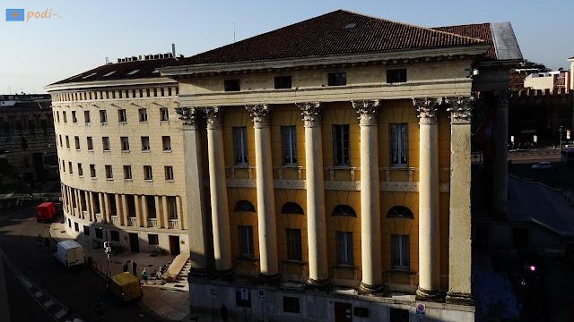 Municipio di Verona, Palazzo Barbieri, ala semicircolare