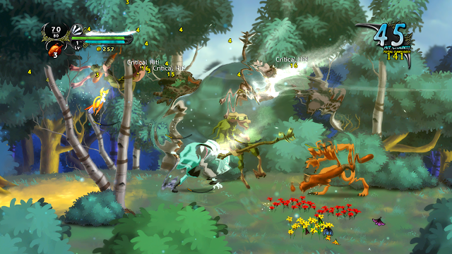Screenshot of gameplay from Dust