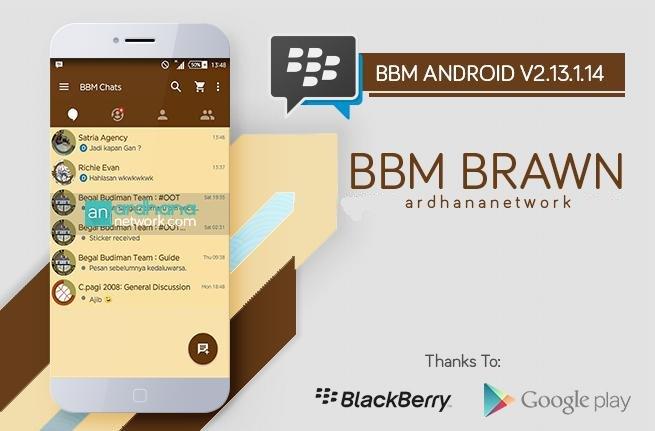 BBM MOD Brown versi Terbaru 2.13.1.14 dan untuk Gingerbread