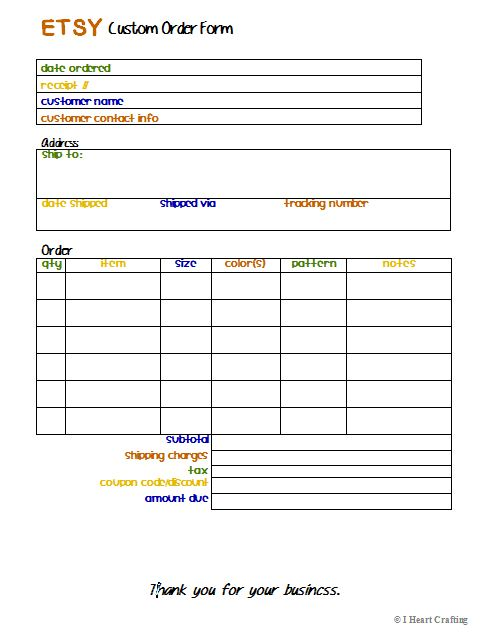 It's just a picture of Printable Order Forms within restaurant