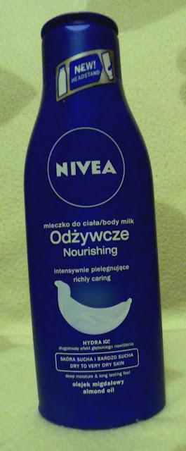 Nivea - odżywcze mleczko do ciała.