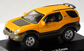 Isuzu V-Cross SUV 1997–2001 1:72 gelb yellow