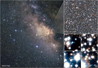 Ősi csillagmaradványokat azonosított a Hubble a Galaxis centrumában