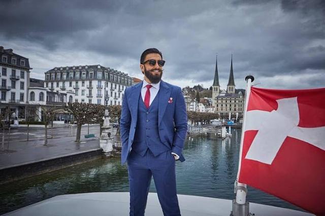 Loving it in Lucerne Ranveer Singh