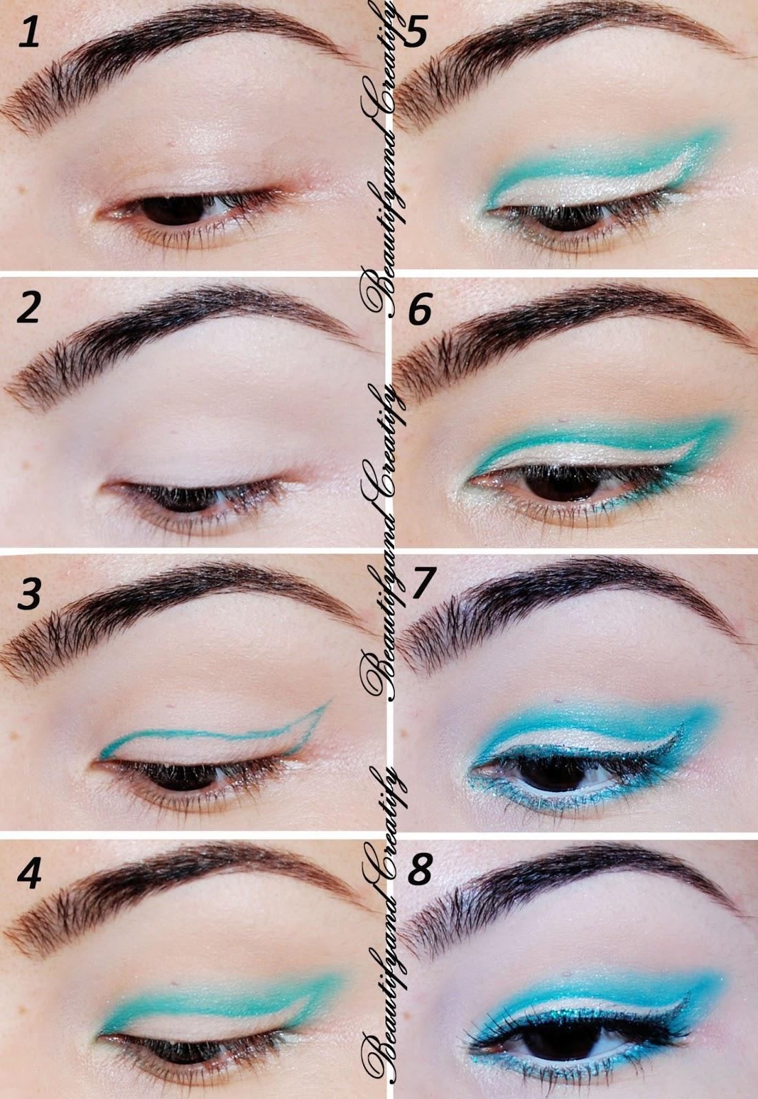 Colorful Subtle Winged Eye Makeup Tutorial