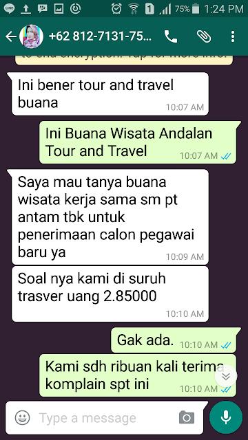 Klarifikasi Panggilan Interview Menggunakan Nama Buana Tour And Travel