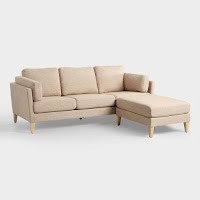 oatmeal neutral color sofa sectional for small living rooms
