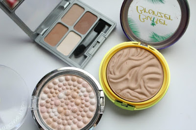 Physician's Formula Butter Bronzer Light Bronze, Mineral Glow Pearls Translucent Pearl, Matte Eyeshadow Classic Nudes