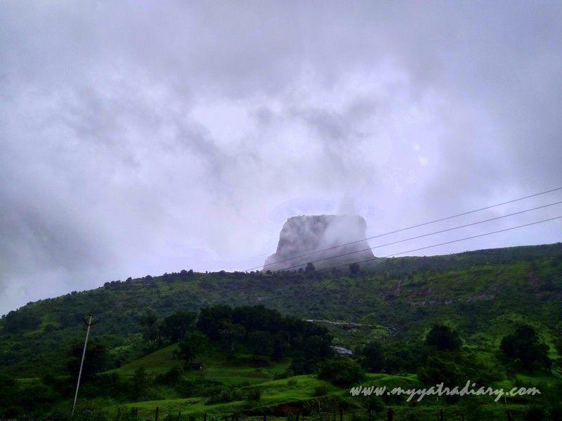Misty Sahyadri range on the Trimbakeshwar -Ghoti road near Nashik, Maharashtra