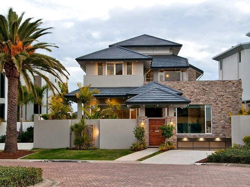 Construindo minha casa clean 30 fachadas de casas for Casas modernas para construir