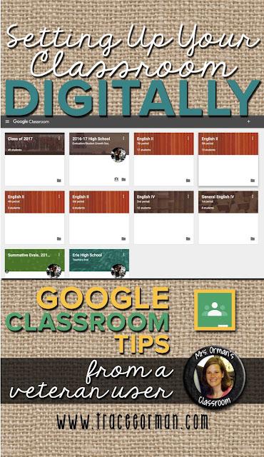 Google Classroom tips from a veteran user www.traceeorman.com