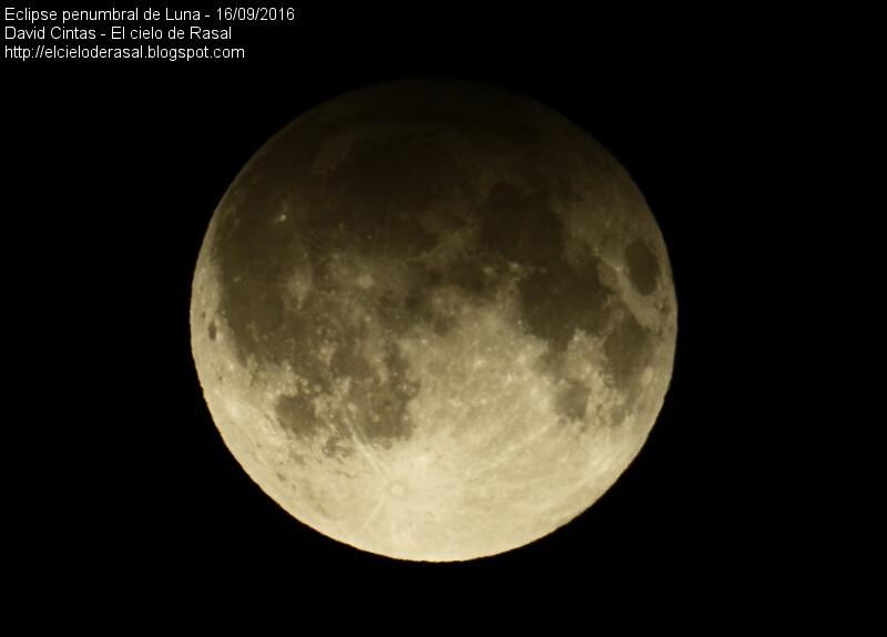 Eclipse penumbral de Luna - El cielo de Rasal