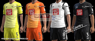 Kits Derby Country 2016-2017 Pes 2013