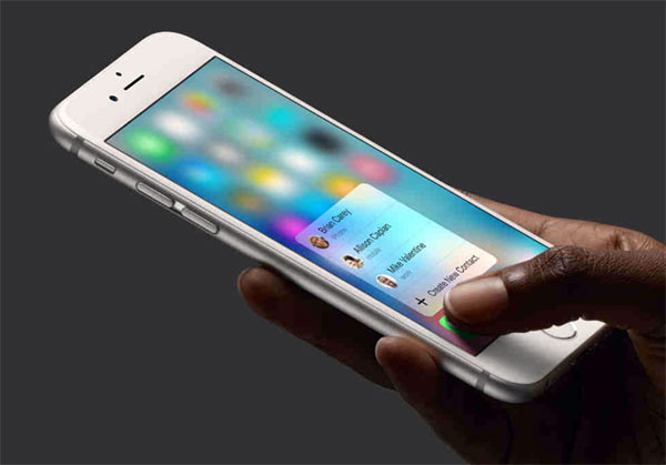 Apple introduces 3D Touch function to iPhone 6S and iPhone 6S Plus